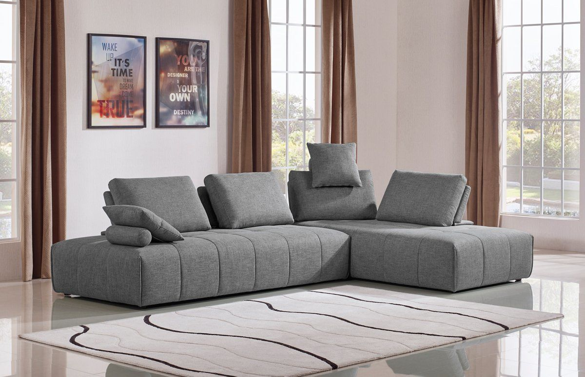 Vig Furniture VGMB-1765-GRY Edward Modern Grey Fabric Modular Sectional  Sofa sale at Contemporary Furniture Warehouse. Today only.
