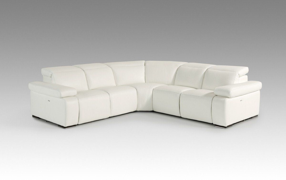 Astounding Divani Casa Hyding Modern White Italian Leather Sectional Sofa By Vig Furniture Vgnthyding Wht Andrewgaddart Wooden Chair Designs For Living Room Andrewgaddartcom