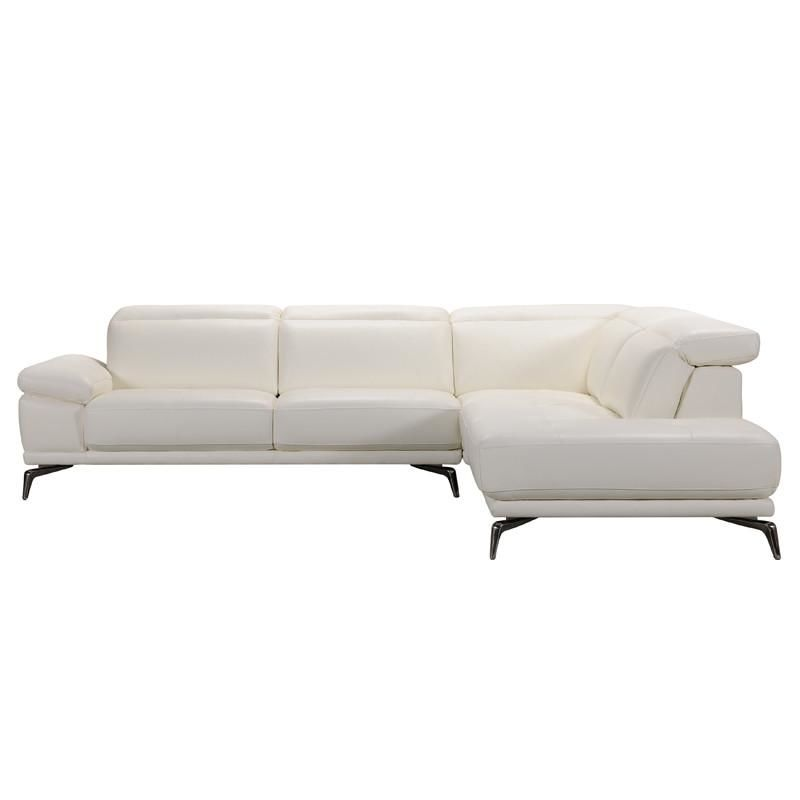 Vig Furniture VGVITB31150-WHT Divani Casa Tundra Modern White Leather  Sectional Sofa sale at Contemporary Furniture Warehouse. Today only.
