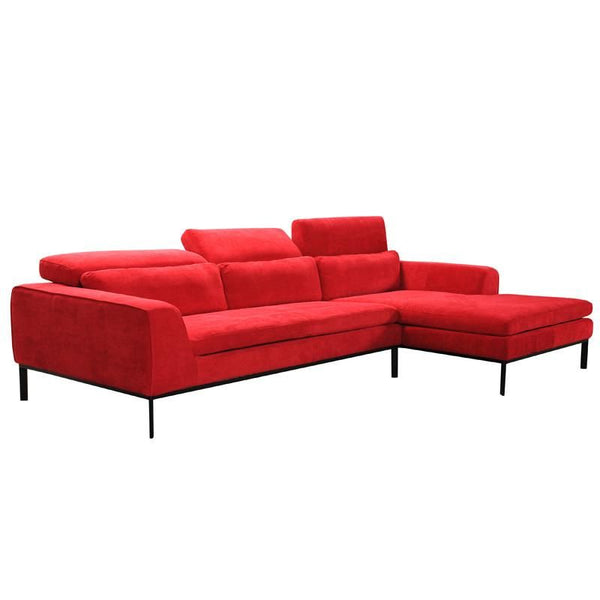 Groovy Vig Furniture Vgvitb31240 Red Divani Casa Clayton Modern Red Fabric Sectional Sofa Sale At Contemporary Furniture Warehouse Today Only Caraccident5 Cool Chair Designs And Ideas Caraccident5Info