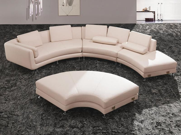 Vig Furniture VGYIA94-HL Divani Casa A94 - Contemporary Leather Sectional  Sofa & Ottoman sale at Contemporary Furniture Warehouse. Today only.