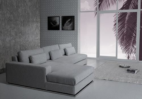 Vig Furniture VGYIC08B Gotland Modern Light Grey Fabric Sectional Sofa sale  at Contemporary Furniture Warehouse. Today only.