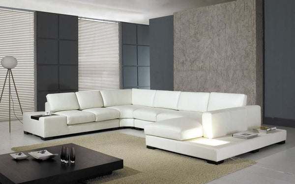 best sneakers 2d277 899b6 Vig Furniture VGYIT35-1 Divani Casa - Modern Leather Sectional Sofa with  Light sale at Contemporary Furniture Warehouse. Today only.