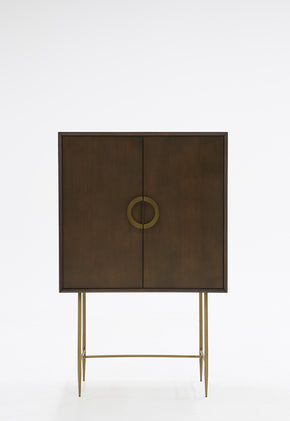 Vig Furniture VGNX18145 Modrest Selena Modern Acacia & Brass Chest