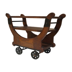 Mill Cross Cocktail Cart Dark Stain Serving