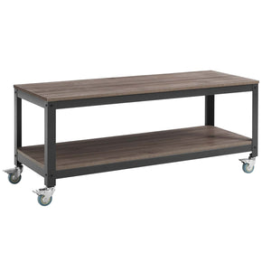 Serving Carts - Modway EEI-2855-GRY-WAL Vivify Tiered Serving or TV Stand | 889654111375 | Only $157.75. Buy today at http://www.contemporaryfurniturewarehouse.com