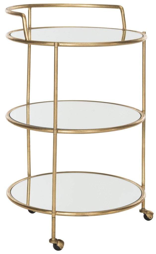 Dulcinea Bar Cart Gold/mirror Top Serving