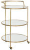Dulcinea Bar Cart Gold/Mirror Top