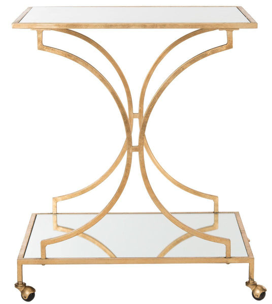 Ignatius Bar Cart Gold/mirror Top Serving