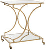 Ignatius Bar Cart Gold/Mirror Top