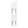 X2 Large Shelving Unit In White Lacquer With Metal Supports Shelf
