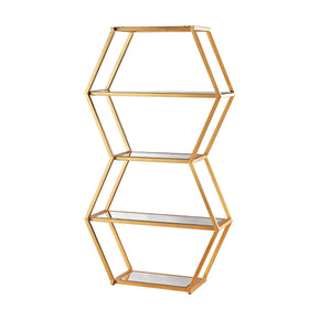 Shelves - Elk Group ELK-1114-208 Vanguard Book Shelf In Gold Leaf And Clear Mirror Gold Leaf,Clear | 818008029592 | Only $1038.00. Buy today at http://www.contemporaryfurniturewarehouse.com