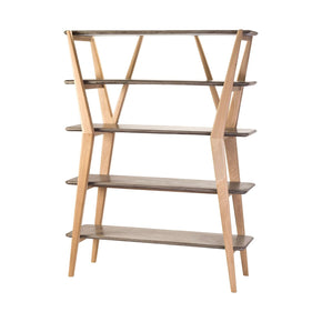 Twigs Shelves Concrete,natural Oak Woodtone Shelf