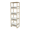 Olympus Shelving Unit Aged Brass,White,Grey