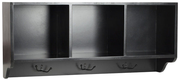 Alice Wall Shelf With Storage Compartments Black
