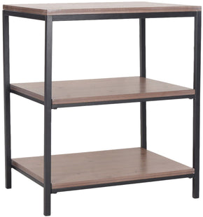 Zeke 3 Tier Shelf Unit Red Maple