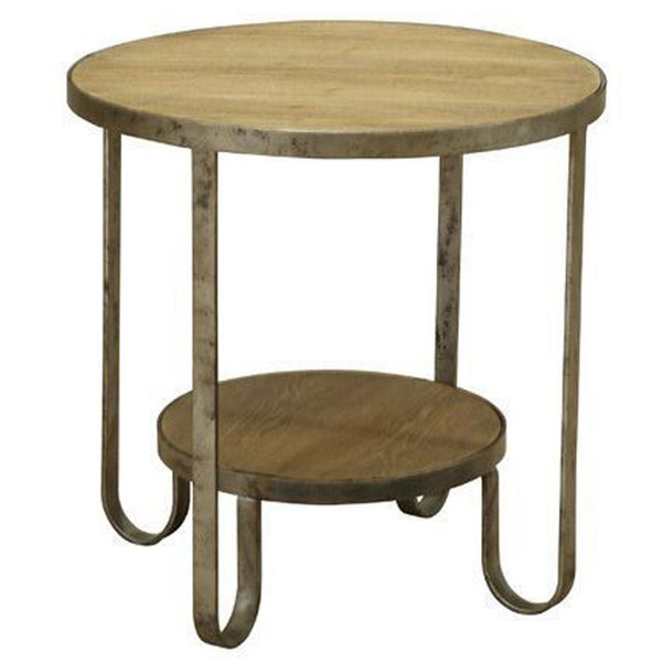 Barstow End Table With Gunmetal Frame Side