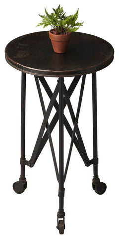 Side Tables - Butler Furniture BUT-1168025 Costigan Modern Round Accent Table Black | 797379012146 | Only $209.00. Buy today at http://www.contemporaryfurniturewarehouse.com