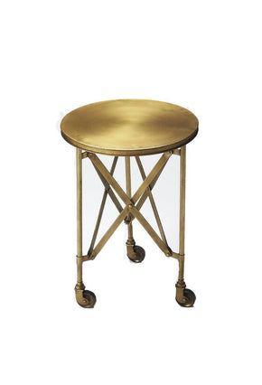 Side Tables - Butler Furniture BUT-1168226 Costigan Modern Round Accent Table Gold | 797379029755 | Only $239.00. Buy today at http://www.contemporaryfurniturewarehouse.com