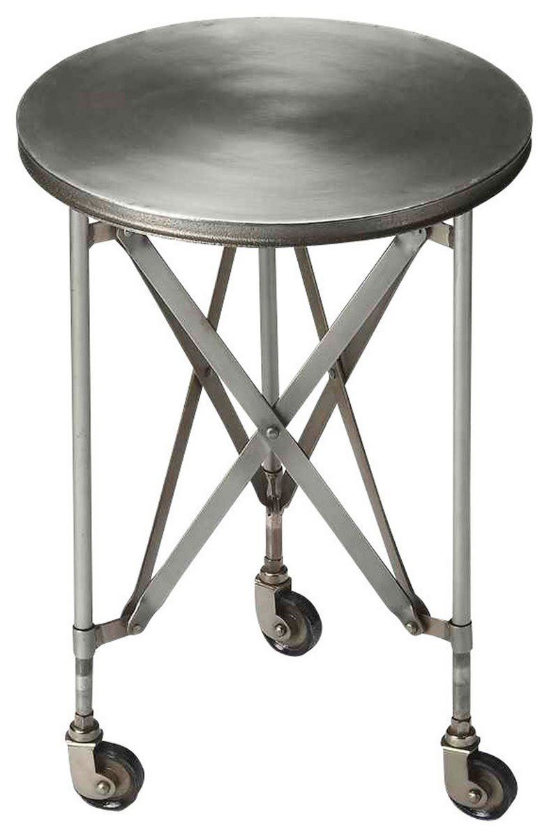 Buy Butler Furniture But 1168330 Costigan Industrial Modern Round Accent Table Silver At Contemporary Furniture Warehouse