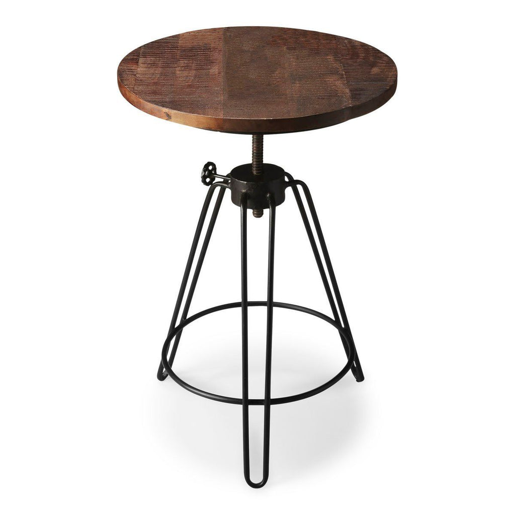 Modern Round Accent Table Multi-Color Side