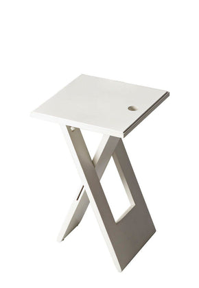 Hammond Transitional Square Folding Table White Side