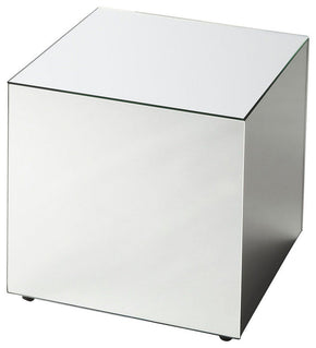 Emerson Modern Square Bunching Cube Clear Side Table