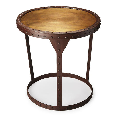 Bonham Transitional Round Side Table Bronze