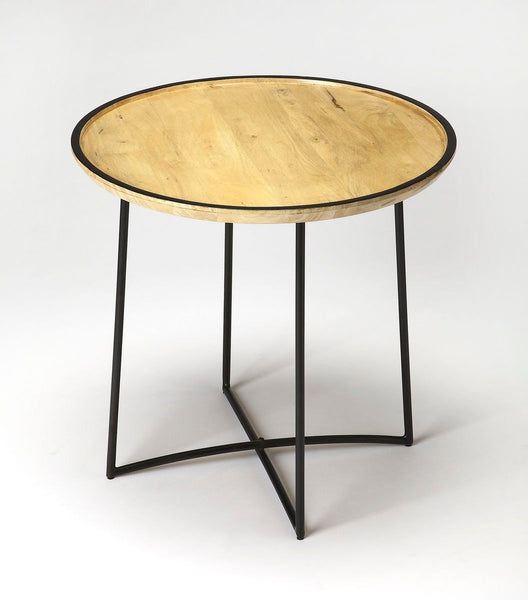 Brooke Modern Round Accent Table Multi-Color Side