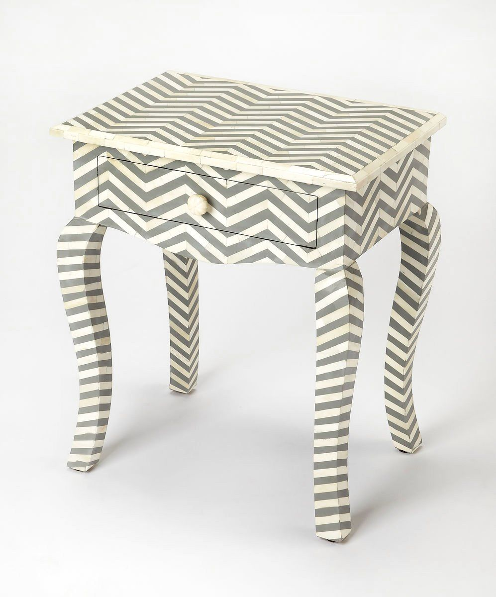 White And Gray Bone Inlay Accent Table: Buy Butler Furniture BUT-3882321 Signoret Transitional