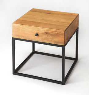 Brixton Modern Square End Table Multi-Color Side