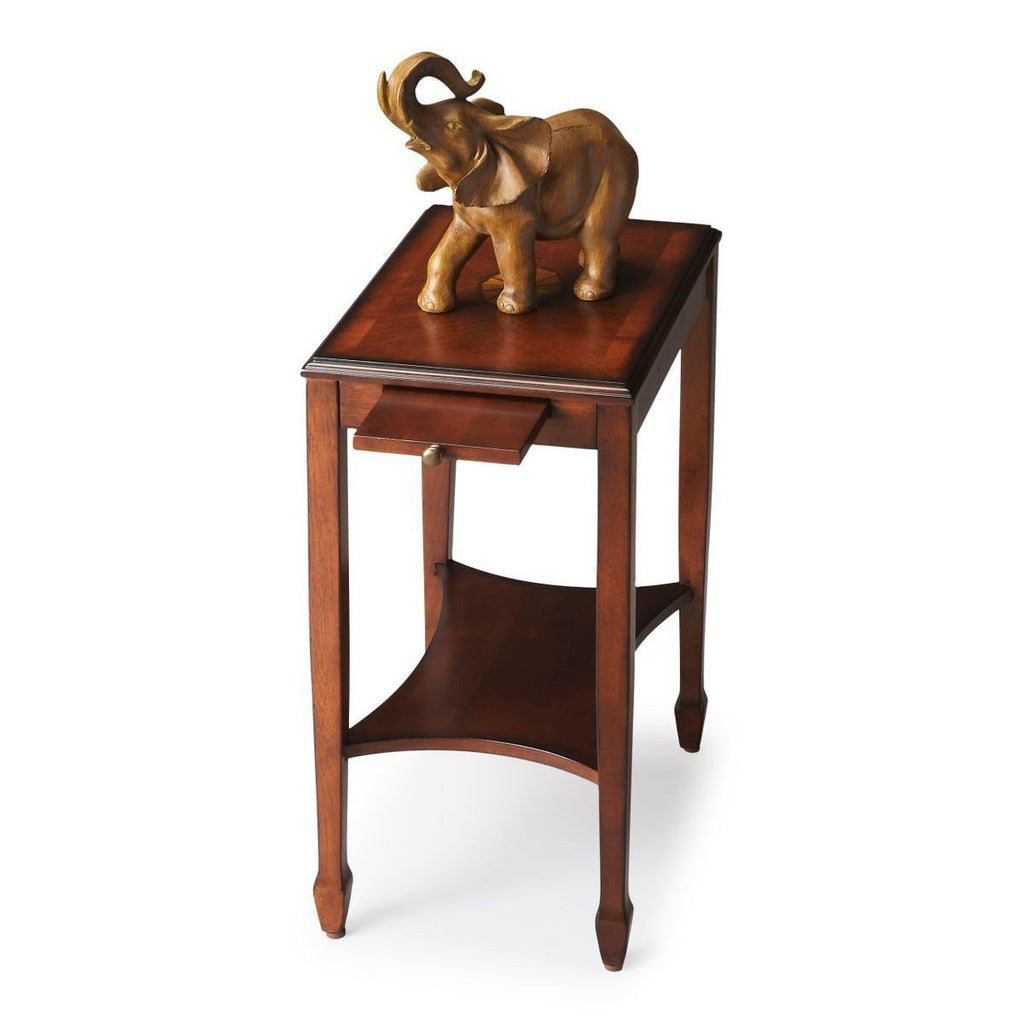 Gilbert Traditional Rectangular Side Table Medium Brown