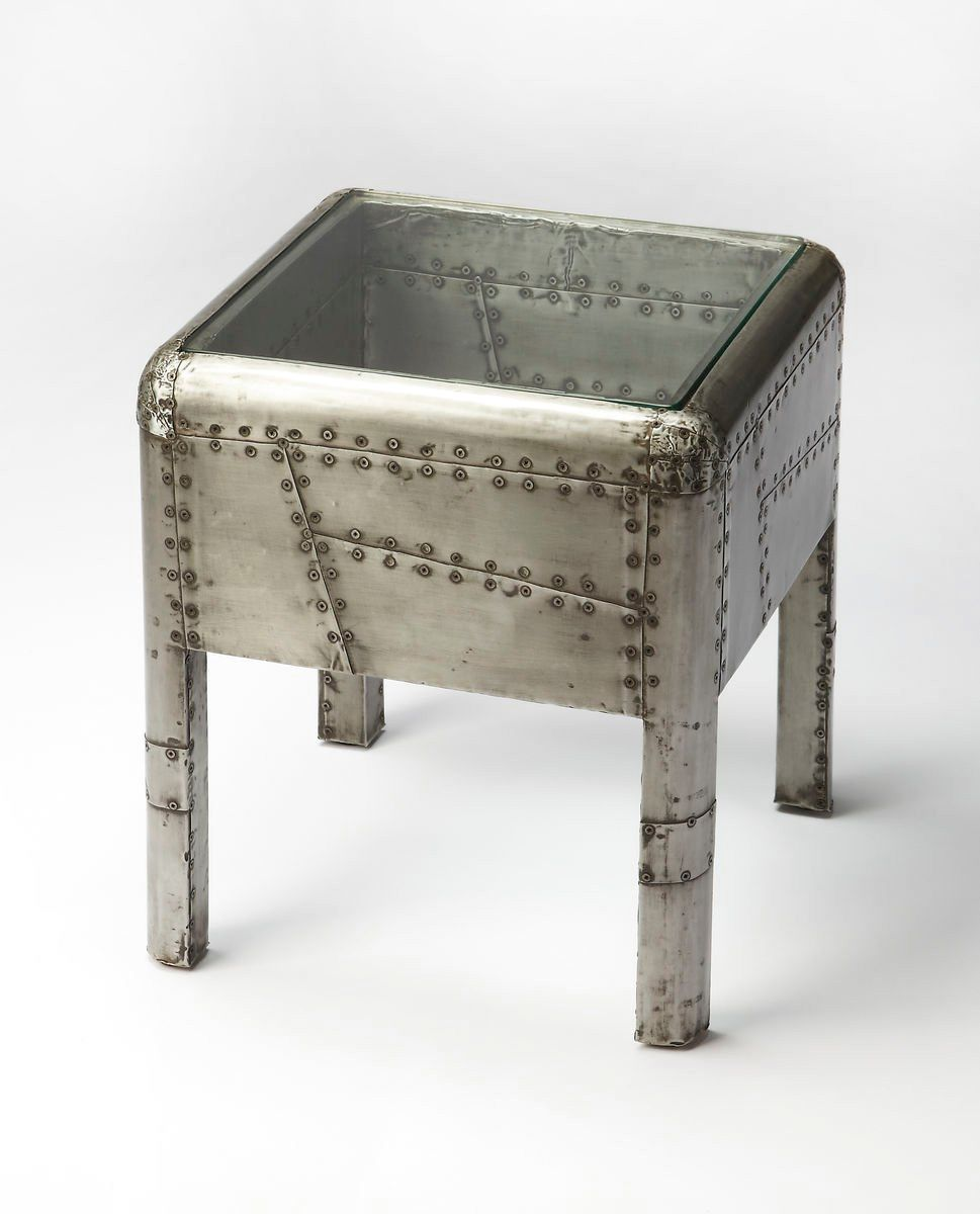 industrial modern furniture. Yeager Aviation Industrial Modern Square End Table Gray Side Furniture N