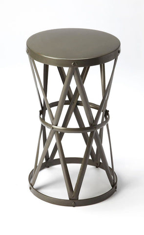 Empire Modern Round Accent Table Gray Side
