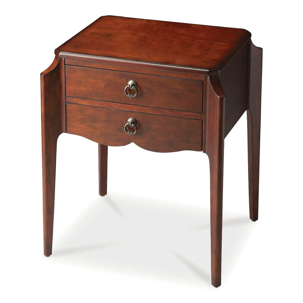Wilshire Transitional Rectangular Accent Table Dark Brown Side