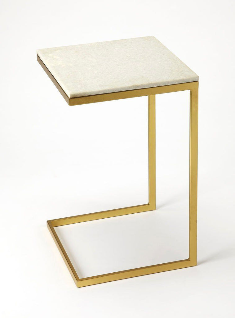 Lawler Modern Square End Table Gold Side ...