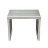 SOHO Rectangular Stainless Steel End Table w/ Clear, Tempered Glass Top