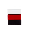 Tri-Color Accent Table w/ 2-Drawer Storage - BLACK/WHITE/RED