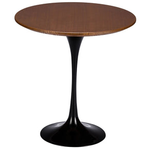 Daisy 20? Walnut Top Side Table In Black