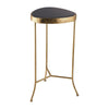Black Onyx Cocktail Table Gold With Black
