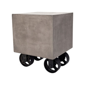 Jigger Side Table Waxed Concrete,rust