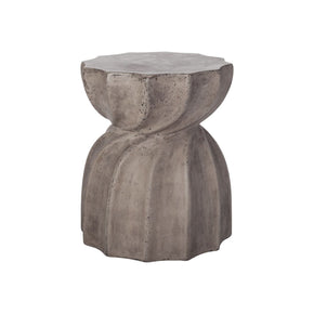 Industrial Warp Side Table Waxed Concrete