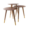 Jetset Accent Table In Walnut Veneer Side