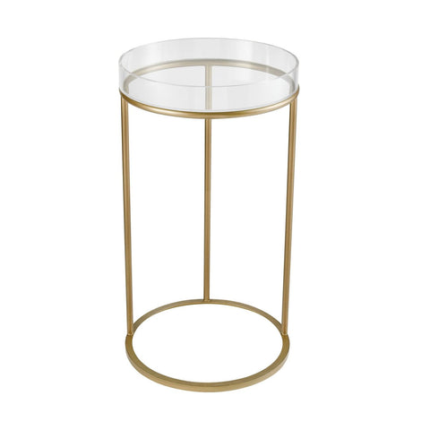 Side Tables - Elk Group ELK-351-10287 Hyperion Round Accent Table Aged Gold | 843558154289 | Only $198.00. Buy today at http://www.contemporaryfurniturewarehouse.com