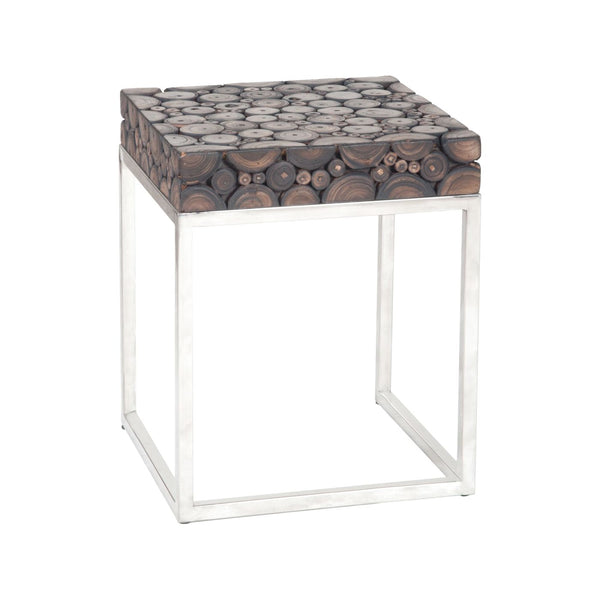 Terrene Accent Table Dark Natural Teak Side