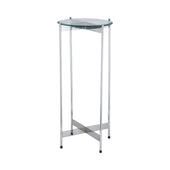 1 Wall Street Chrome Accent Table Nickel Side