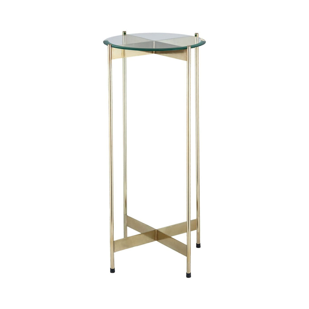 1 Wall Street Gold Accent Table Side