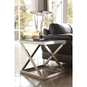 Signature Design By Ashley Coylin End Table Brushed Nickel Side