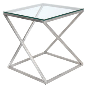 4Z End Table Clear Side