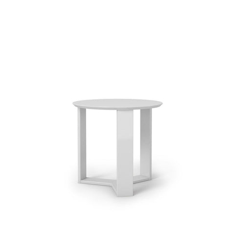 Madison 2.0- 23.85 Round Accent End Table In White Gloss Side